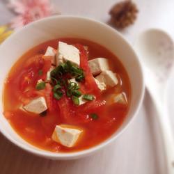 番茄豆腐汤的做法