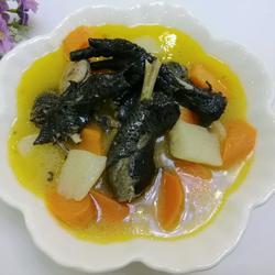 乌鸡汤的做法,山药胡萝卜炖乌鸡